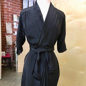 Diane Von Furstenberg Silk Faux Wrap Dress